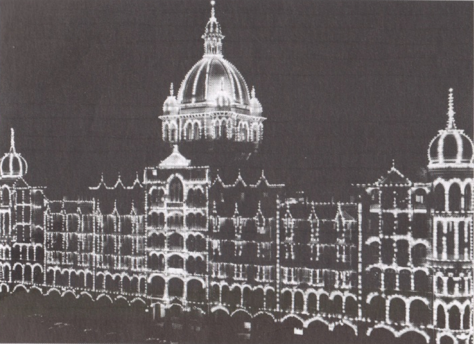 Figure 7: The Taj Hotel, Bombay, 1953 (from: Woods: Mumbai). Copyright Taj Mahal Palace Hotel Collection