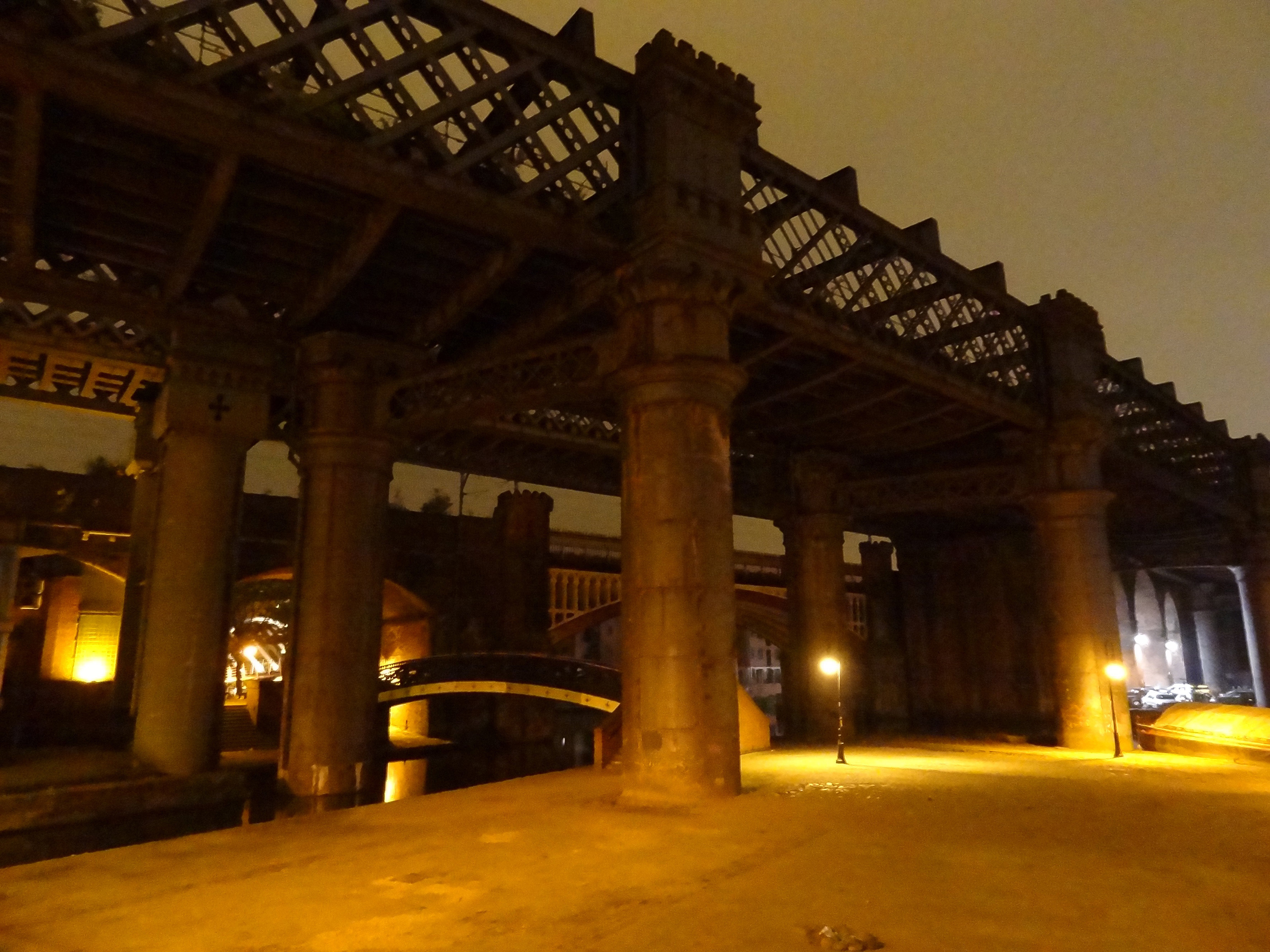 Castlefield and its sodium-tinged Victorian infrastructures.