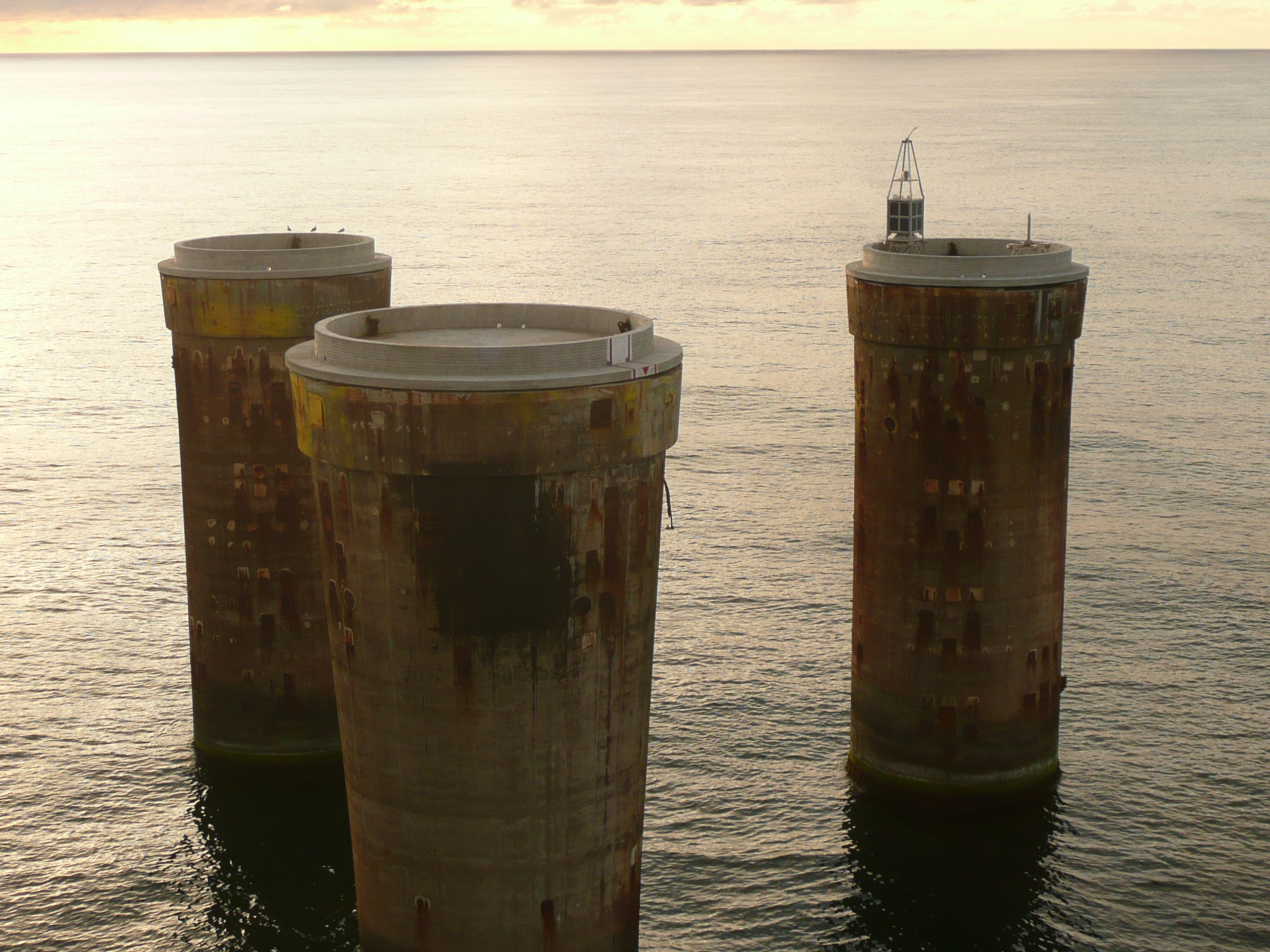 Figure 4: The remains of the concrete platforms left on Frigg field in the North Sea. © Total E&P Norge.