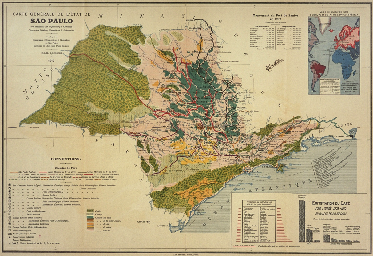 General chart (1910), São Paulo State Geological and Geographical Commission