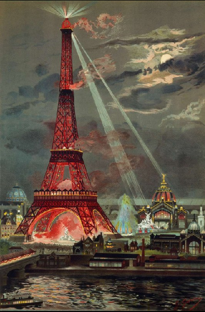 Figure 4: The Eiffel Tower illuminated at the occasion of the world exhibition 1889, by Georges Garen. © Photo RMN Grand Palais – J. Schormans.