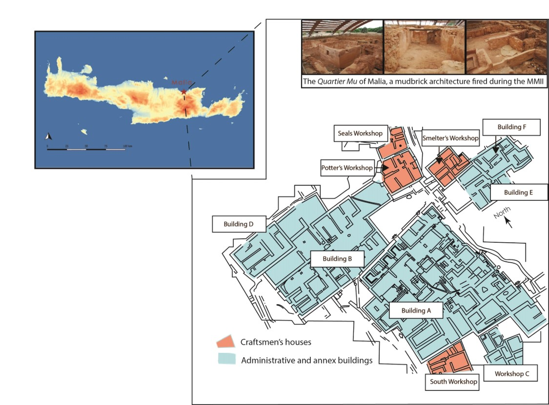 Figure 1: Localization of the Quartier Mu of Malia
