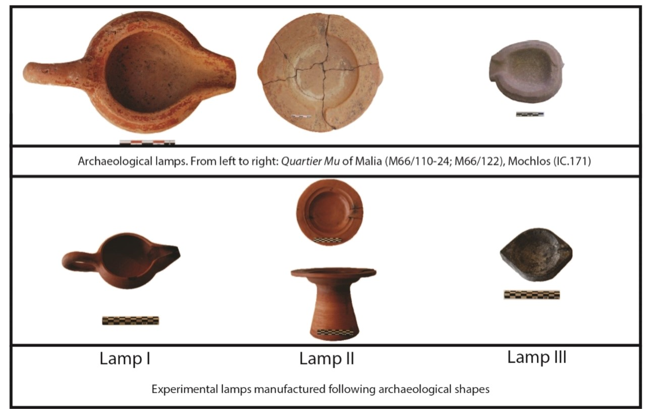 Figure 5: Archaeological and experimental lamps.
